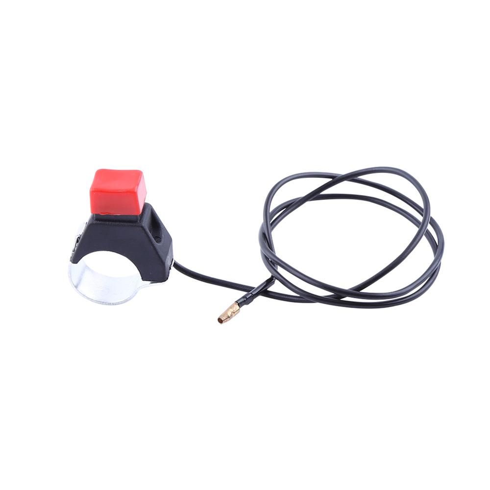 Universal  Tether Safety Engine Stop Kill Switch Push Button For Mini Moto  Fit 22mm Handlebar 49cc