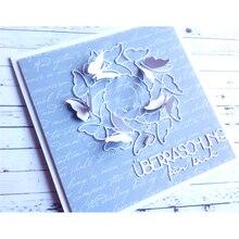 YaMinSanNiO German Words Metal Cutting Dies Geburtstag/von herzen/gratulation Scrapbooking for Card Making Crafts Die Cut