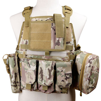 Surwish Molle Hunting Adjustable Military Tactical Protective Equipment for Nerf/ for Airsoft Paintball -Tan/Black/Green/CP