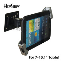 Metal Ipad security stand case flexible tablet wall desk mount tablet display holder lock enclosure with keys for 7 10 tablet