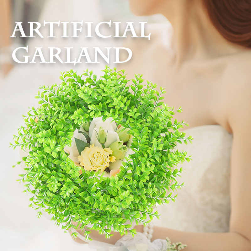 Искусственные зеленые гирлянды имитация висячая гирлянда искусственный венок