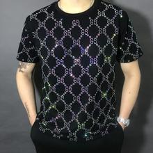 Новинка, брендовые рубашки с короткими рукавами и надписью, модные удобные мужские футболки из хлопка для ночного клуба