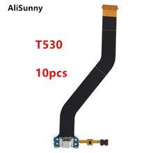AliSunny Cable flexible de puerto de carga para SamSung Tab 4, 10,1, SM T530, T531, T533, cargador, puerto USB, conector, piezas de reparación, 10 Uds.