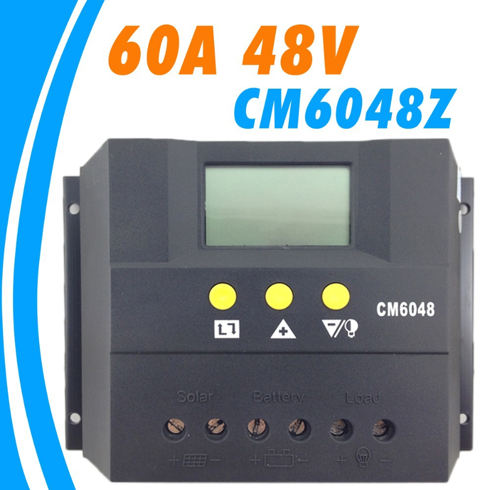 60A 48V cm6048z Solar Controller PV panel Battery Charge Controller Solar system Home indoor use New