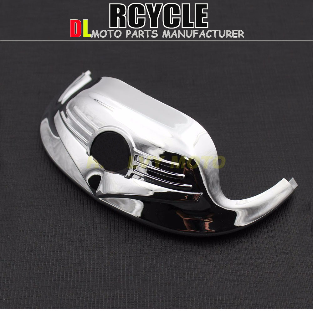 Free Shipping Motorcycle Chrome Front Fender ABS Mudguard Tip Trim For Harley FLHR Road K FLST FLHR Classic Мотоцикл