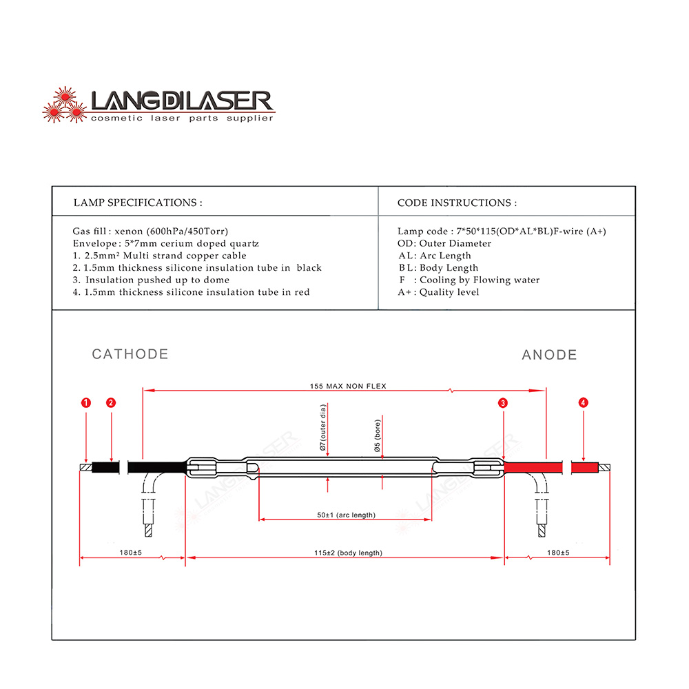ipl lamp 7 50 115F wire Lamp F1404 Lamp F1405 IPL Lamp for leslaser keslaser handpiece ipl lamp 7*50*115f wire , lamp f1404, lamp f1405 , ipl lamp for Simple Electrical Wiring Diagrams at cos-gaming.co