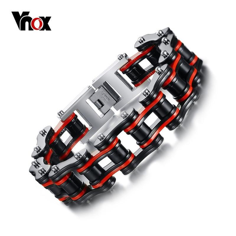 Vnox Men's Motor Bike Chain Motorcycle Chain Bracelet Bangle Male Stainless Steel Jewelry Drop Shipping seiko ssc293p2 page 2