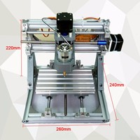 DIY Mini 3 Axis Router CNC Machine 1610 GRBL Control CNC Engraver PCB PVC Milling Wood Carving Machine Working Area 16x10.5x3cm