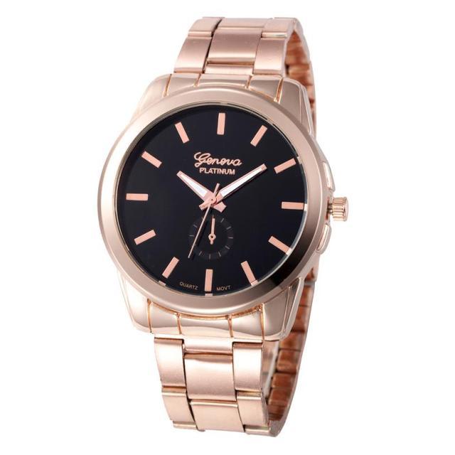 watch women luxury brand famous stainless steel bracelet golden Quartz watch wom