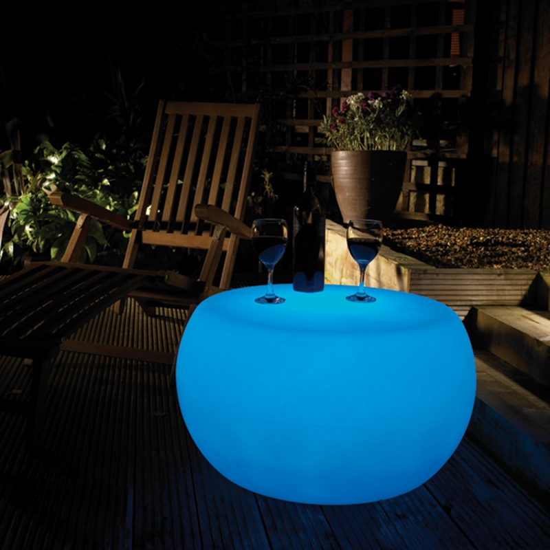 LED Coffee Bar Table BUBBLE Lumineux Table Ronde Table Tambour 16 Colour Changing Glowing In Dark Free Shipping 1pc