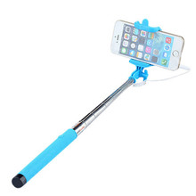 Extendable Wired Remote Shutter Handheld Selfie Stick Monopod for iPhone Samsung xiaomi mi selfie stick wired remote shutter
