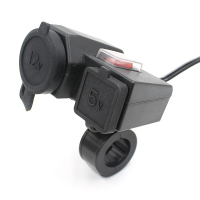 Waterproof Motorcycle Accessory Scooter 12V 2 1A Usb Charger Function Without Cigarette Lighter Socket