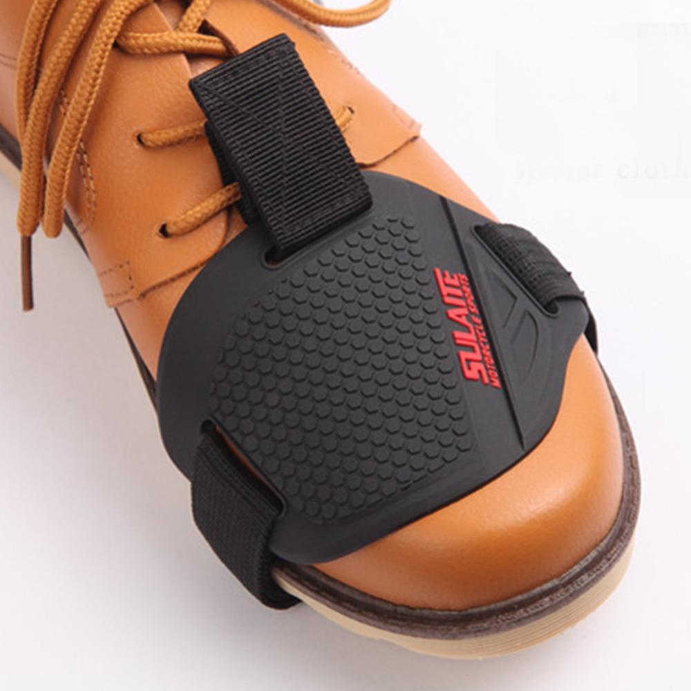 Motosiklet motosikletləri sürüşməyən Ötürücü Shifter Ayaqqabı Çəkmə Botas Scuff Mark Protector Moto Aşınmaya qarşı rezin corab örtüyü