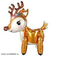 50PC 3D Christmas deer assembly balloon foil balloon birthday party decorations kids toys festival supplies