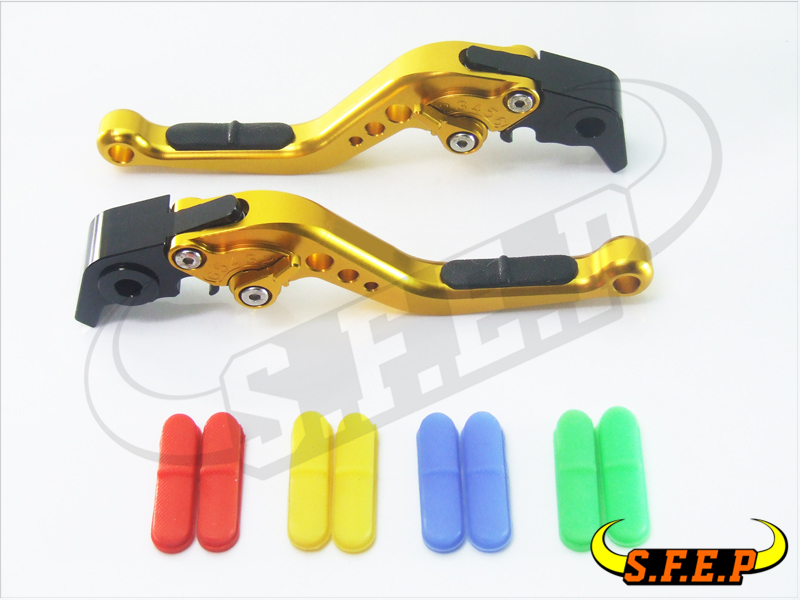 New CNC Aluminum Anti-Slip Adjustable Short Levers For Yamaha YZF-R6 2005-2016/YZF-R1 2004-2008