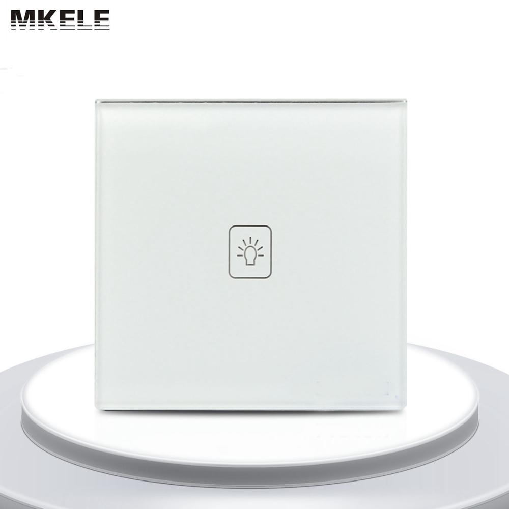 High Quality Remote Touch Wall Switches UK Standard 1 Gang 1way RF Control Light Switch White Crystal Glass Panel new arrivals remote touch wall switch uk standard 1 gang 1way rf control light crystal glass panel china