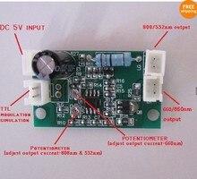 Chuyên nghiệp Laser Diode Driver cho 808nm và 532nm + 660nm với TTL