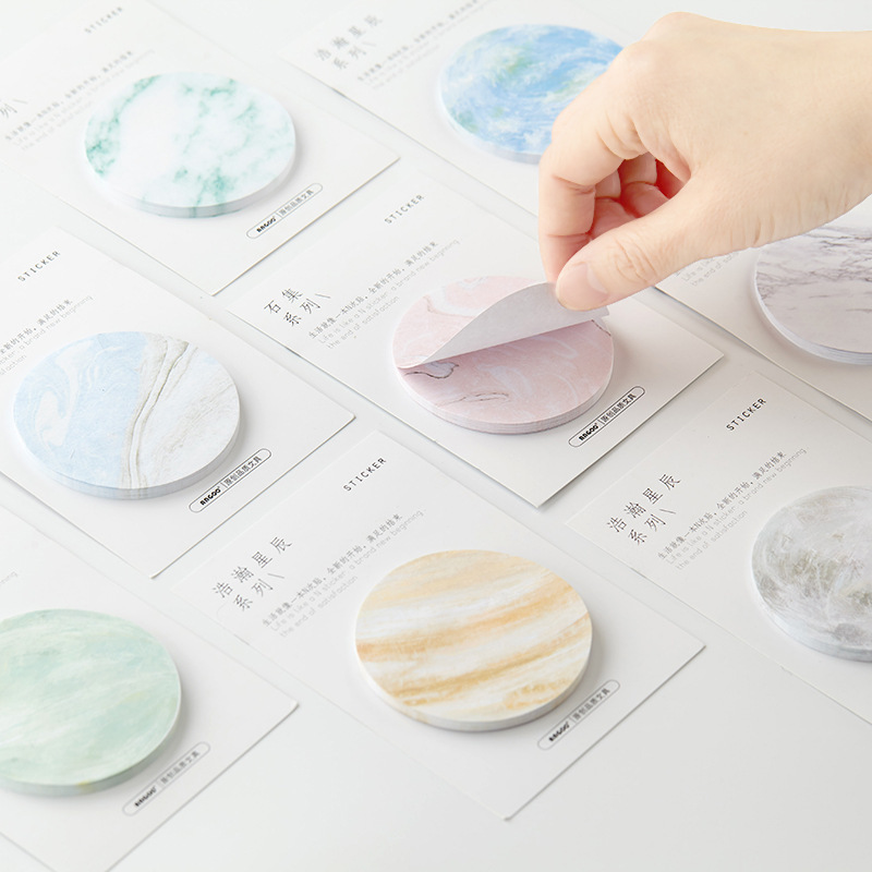 The Vast Stars Stone Self-Adhesive Memo Pad Sticky Notes Bookmark School Office Supply plastic self adhesive sticky notes memo pad notebook category label page index tag post planner stickers office school supply
