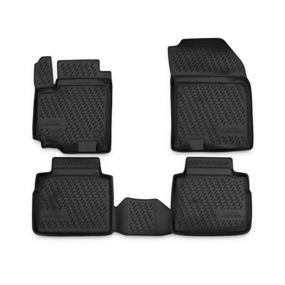 Floor mats for Suzuki SX4 II S-Cross 2013 2015 2016 2017 Element CARSZK10003 цена