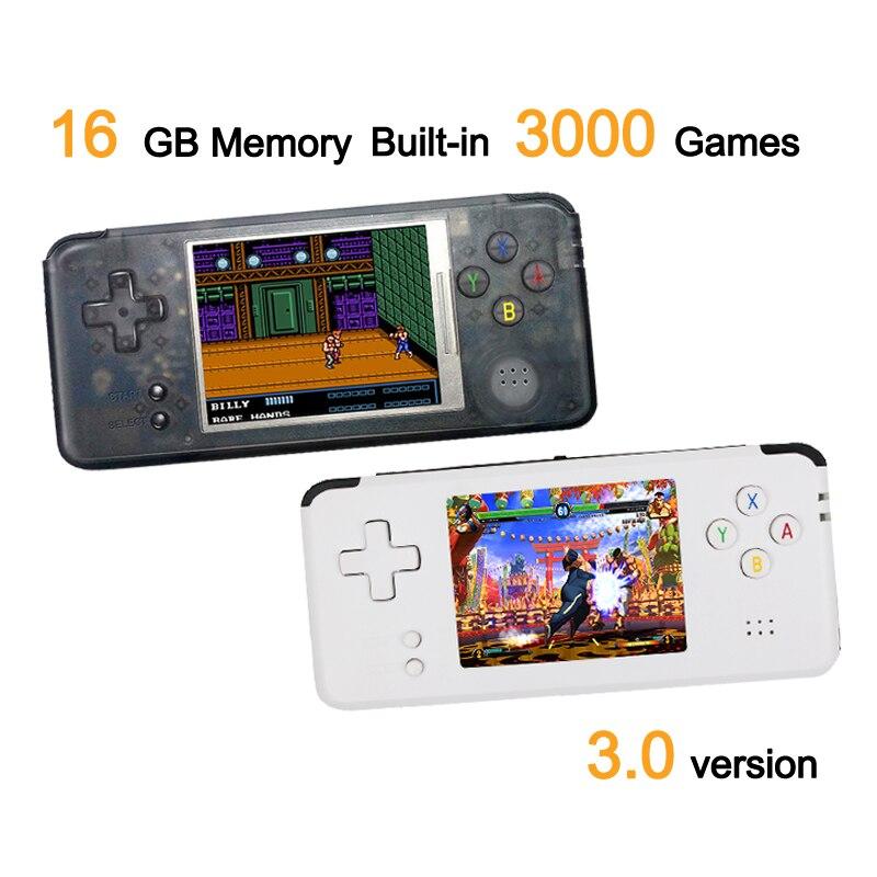 RS-97 Classique Rétro console de jeu Portable jeu vidéo Lecteur 3.0 pouces Écran 16 GB Portable Jeux Lecteur Intégré 3000 Jeux