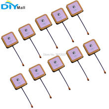 10pcs/lot 25x25x6.5mm GPS Beidou Active Antenna IPX Connector 1575.42MHZ 1561MHz gps bd combined antenna sma straight head and beidou dual mode of gps antenna active amplification