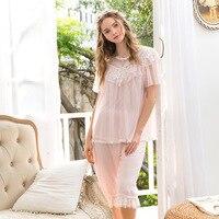 Lolita Pajama Set Set Japanese Cute Pajama Set Cotton Lace Sleepwear Women Girl Underwear Nightgowns pink pajamas