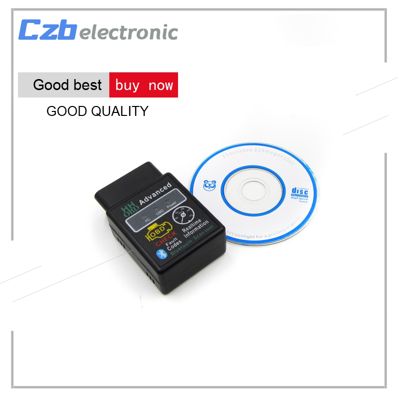 Mini ELM327 V2.1 Bluetooth HH OBD HHOBD Advanced OBDII OBD2 Car Diagnostic Tool Scanner Code Reader for Android