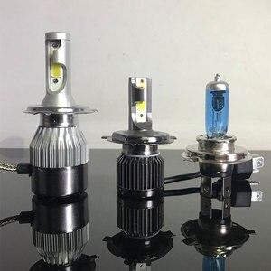 Image 4 - Led Car Headlight Led Lamp for Auto 8000lm 72W COB Chip Fog Lights C6 Mini LED Headlight Bulb 6000k H1 H7 H4 9005 9006 9012 led