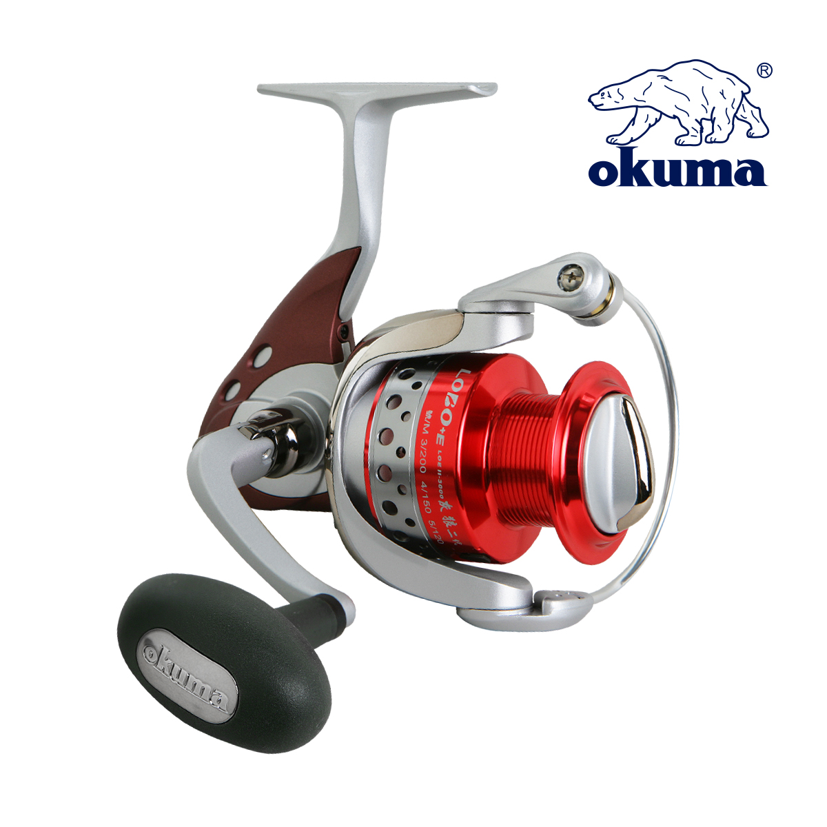 OKUMA LOE II 2000 High Quality Fishing Reel Spinning Reel Gear Ratio 5.0:1 Ball Bearing 6+1 Lure Reel Sea River Fishing Tackle