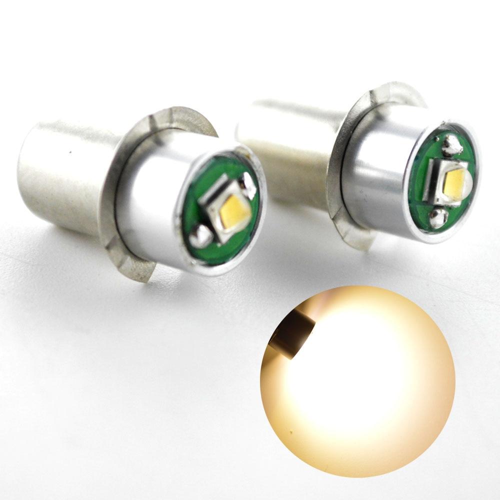 2Pcs New Maglite PR2 PR3 PR4 3W XPG-2 Led Upgrade Flashlight Kit Bright Warm White 3Watt P13.5S DC3V-18V Free Shipping maglite