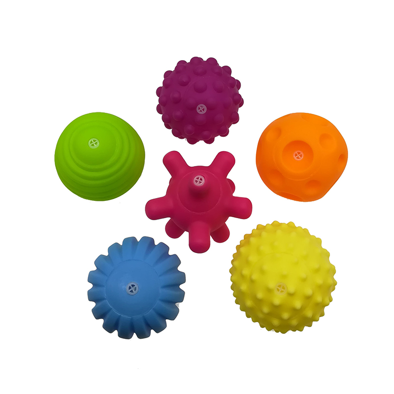 Children Ball Hand Sensory Baby Toy Rubber Textured Multi Tactile Senses Touch Toys Baby Training Massage Soft Balls