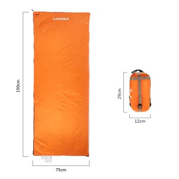 Lixada 190 * 75cm Outdoor Camping Bag Hiking Sleeping Bag Multifunctional Ultra-light Envelope Hooded Sleeping Bed Lazy Bag 4