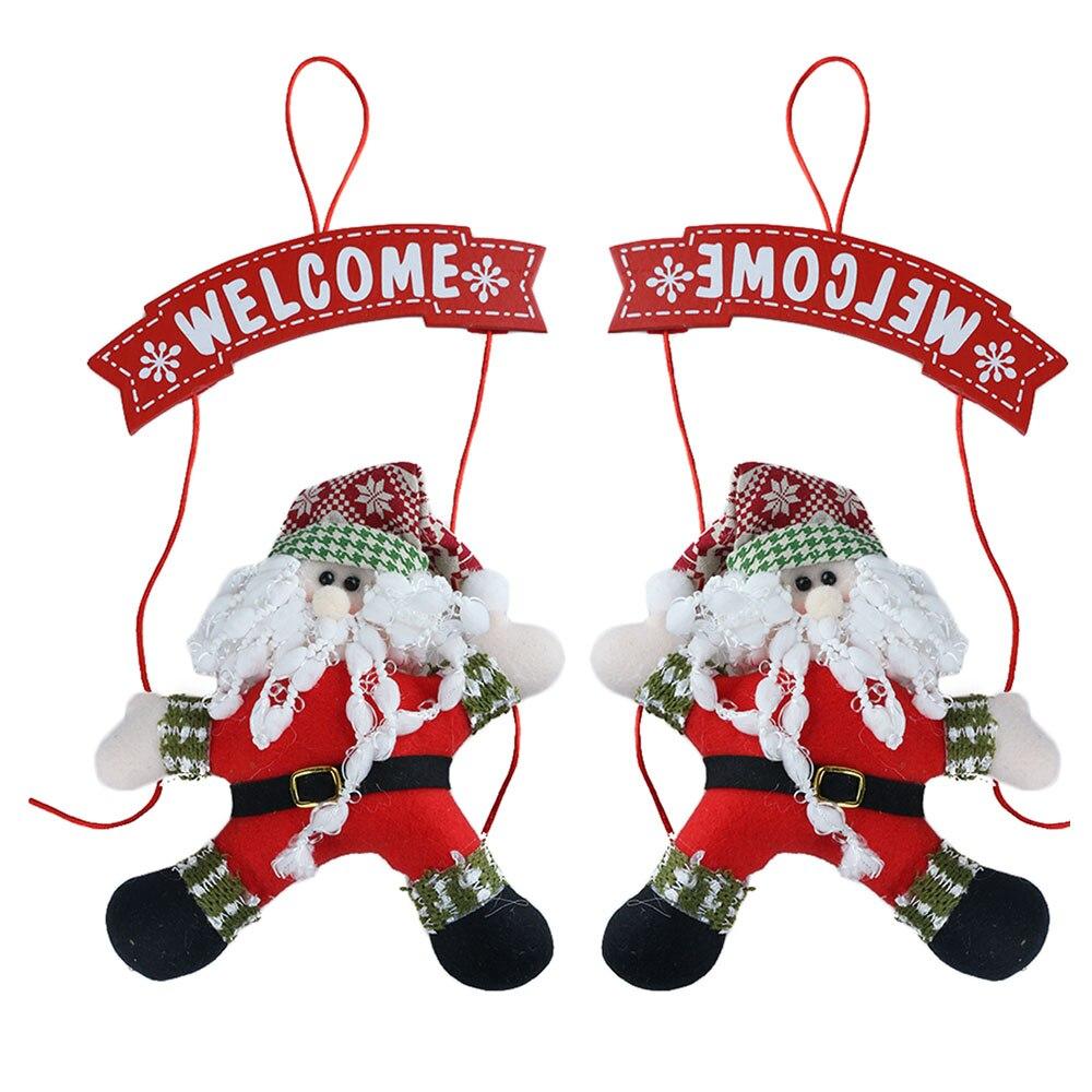 1pc Vivid New Santa Claus Tree Door Christmas Decoration Home Ornament  Decor Hanging Xmas Party Accessories