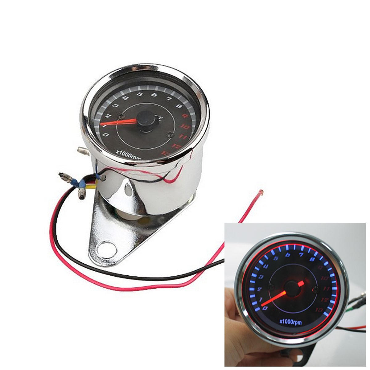High Capacity Motorcycle Bike Speedometer Tachometer Odometer Replacement Rev Counter 0-1000 RPM Outdoor Sport Safety Accesssory high quality sbc8168 rev c2 100