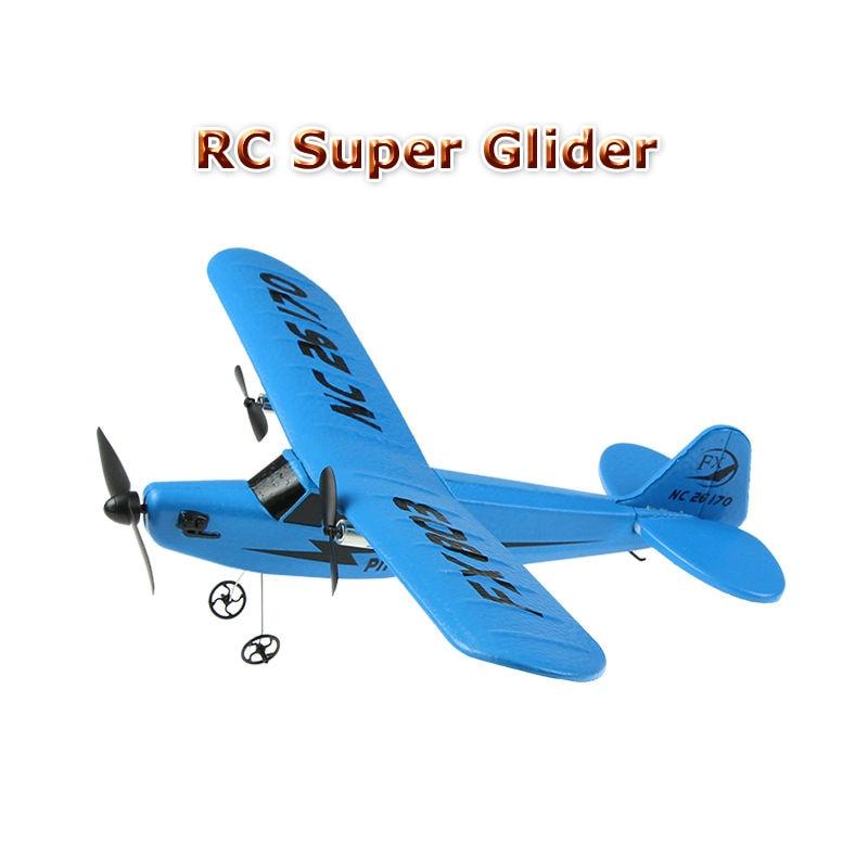 Gratis frakt FX803 superglidflygplan 2CH Fjärrkontroll flygplansleksaker redo att flyga som gåvor till barns FSWB