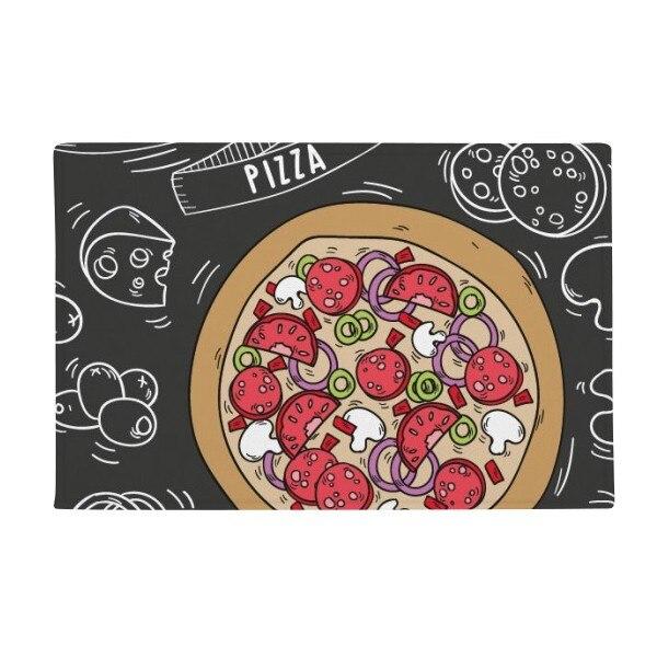 Italy Pizza food Customs Resident Diet Pattern Anti slip Floor Mat Carpet Bathroom Living Room Kitchen Door 16x30Gift