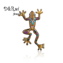 Colorful Enamel Pin Frog Brooches for Women Men Animal Vintage Costume Jewelry Womans  Accessories Alloy Pins Brooch Best 2019