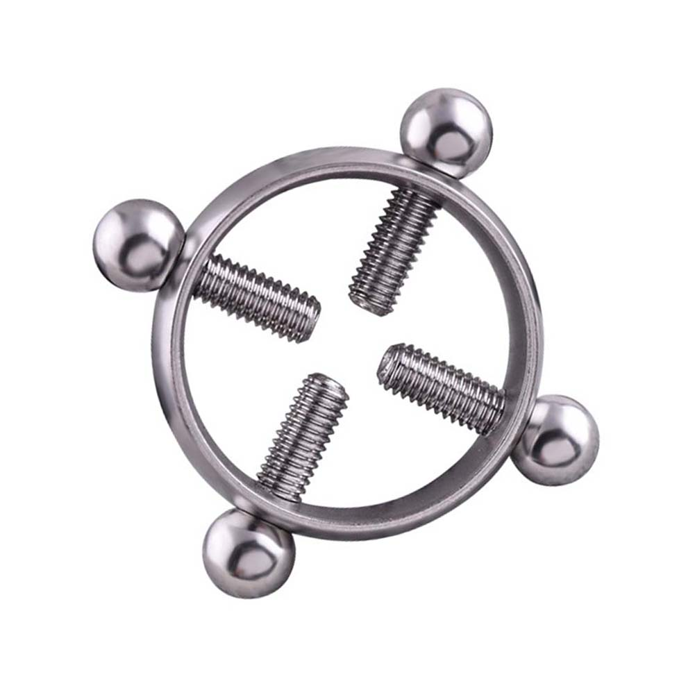 Sexy Body Jewelry For Women Nipple Rings Alloy Screw On -3588