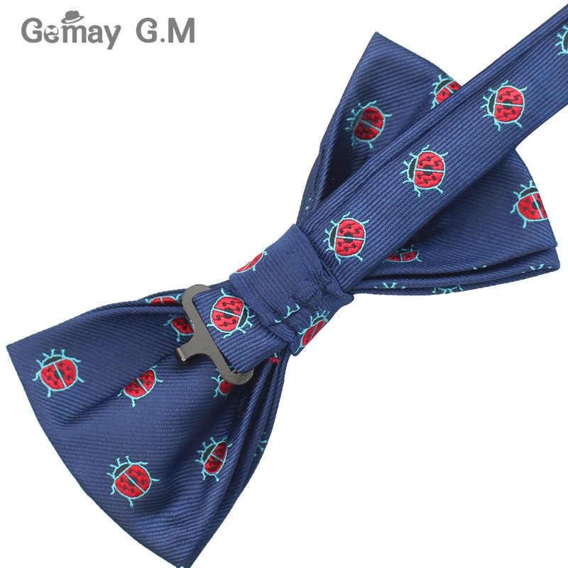 Formale Vestito di Affari Cravatte Per Gli Uomini Poliestere Animale Cravatte di Modo Bowtie Regolabile per la Cerimonia Nuziale Del Partito Sposo Farfalla