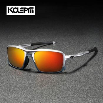 KDEAM 2019 New Square Sunglasses TR90 Frame Men Polarized Sport  Eyewear Comfortable silicone non-slip UV400 5 Colors KD222