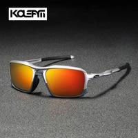 KDEAM 2019 New Square Sunglasses TR90 Frame Men Polarized Sport Eyewear Comfortable silicone non slip UV400 5 Colors KD222