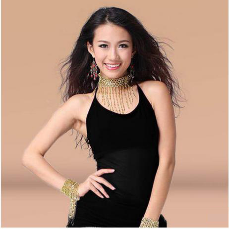 Belly Dance Cheap 9 Colors Belly Dance Top For Girls,Square Latin   Clothes/ Belly Dance Crystal Cotton Belly Dancing Vest
