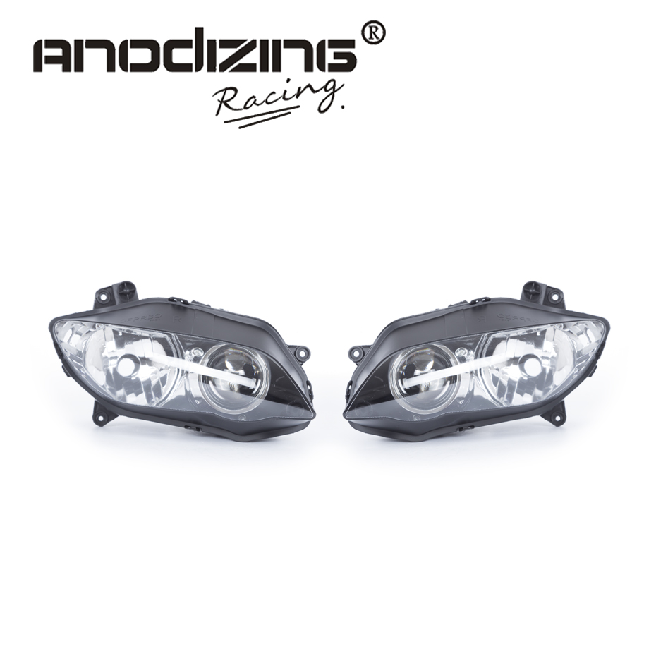 все цены на Motorcycle Clear Lens Headlight Headlamp Case For Yamaha YZF R1 2004 2005 2006 Front Head Light Assembly Housing онлайн