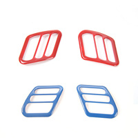 MOPAI ABS Interior Dash Board Left & Right Air Outlet Vent Trim Decoration Stickers For Jeep Wrangler TJ 1997-2006 Car Styling