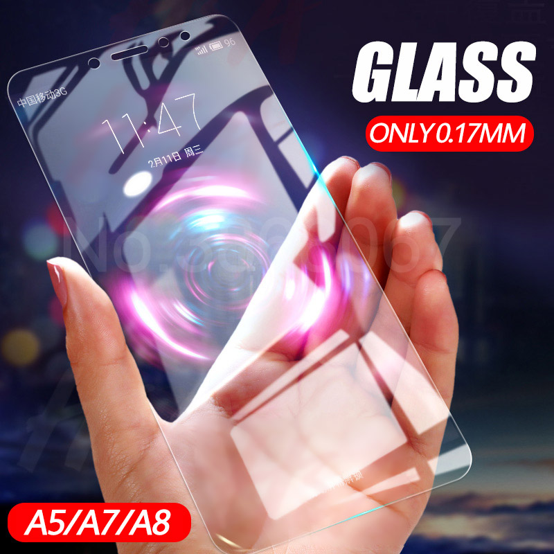 Tempered Glass For Samsung Galaxy A7 A6 A8 Plus 2018 9H Screen Protector For A3 A5 A7 2017 2016 Toughened Protective glass filmTempered Glass For Samsung Galaxy A7 A6 A8 Plus 2018 9H Screen Protector For A3 A5 A7 2017 2016 Toughened Protective glass film