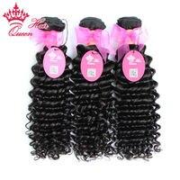 Queen Hair Products Brazilian Deep Wave Virgin Hair 100% Unprocessed Brazilian Deep Curly Virgin Hair Fast Shippping 3pcs/Lot
