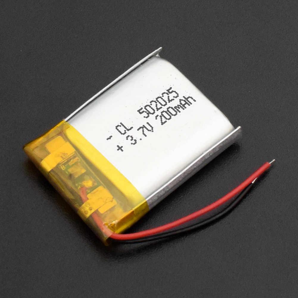 1/2/4pcs סיני 502025 3.7v ליתיום יון 200 mah Li פולימר סוללה עבור נייד MP3 MP4 GPS מרחוק בקרי