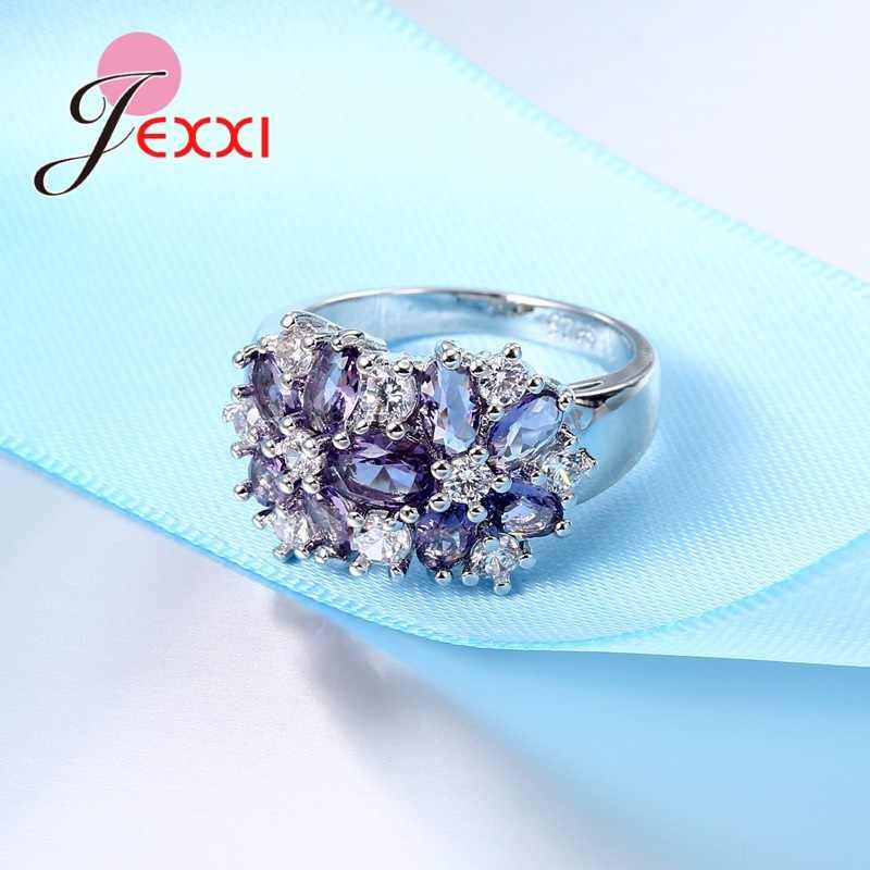 Charm Luxury Cubic Zircon แหวนสำหรับเครื่องประดับหมั้นผู้หญิงเครื่องประดับ Silver ข้อเสนอ Finer แหวน