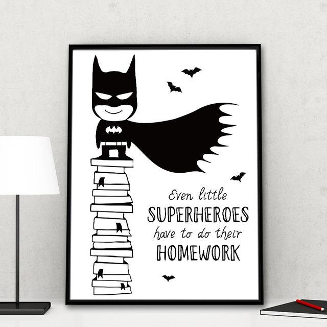 Tienda Online Batman cómico minimalista lienzo A4 cartel pintura ...
