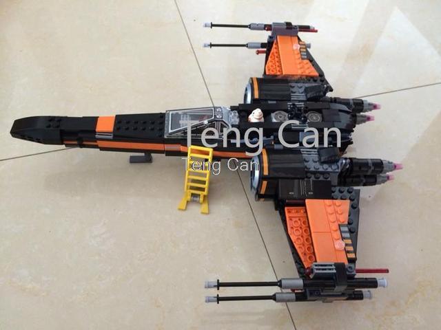748 unids Star Wars X-wing Fighter de Poe FTR Bloques Huecos de Los Niños Ladrillos Educativos Juguetes brinquedos minis leping